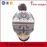 New Arrival 2016 custom pattern knitted fleece wool hat
