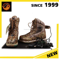 Genuine Leather Electric Rechargeable Heated Men's Leather boots for army and combat boots