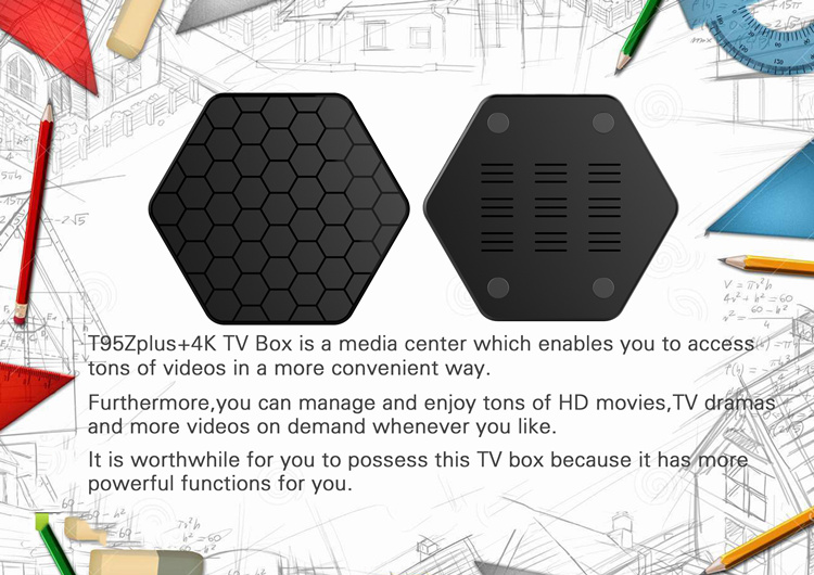 2017 T95z Plus 2GB/16GB unlock Amlogic S912 Android 7.1 firmware update better than amlogic s905 android tv box