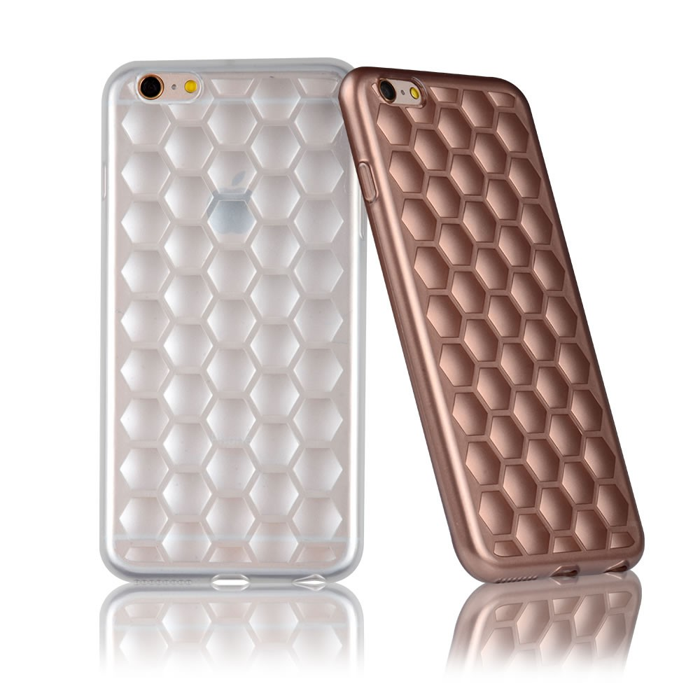 C&T Honeycomb design mobile cover protective TPU silicon case for Apple iPhone 6 / 6S