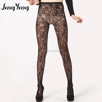 Hot sale women sexy women soft seamless fishnet pantyhose with jacquard