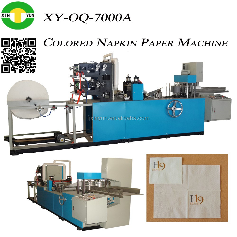 Full Automatic 2 Colors Napkin Paper Making Machine