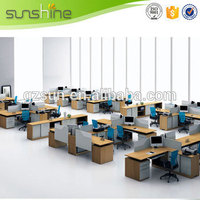 Easy Assemble Cheap Price Office Workstation Used Low Partition Melamine Office Furniture