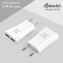 Stylish Shape 2 Port USB Wall Charger quick charge Cellphone/Tablet/Camera/GPS