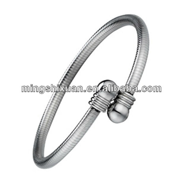 Hottest high quality ball end bangle bracelet