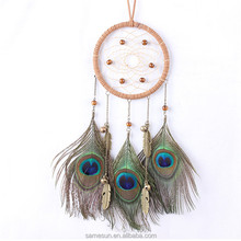 Peacock Feather Indian Dream Catcher