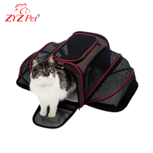 Expanded pet travel carrier best dog crate for large animal shoulder bag