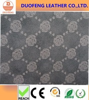 100% printed leather fabric for dog leash/shoe