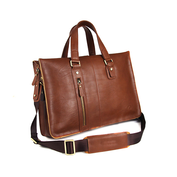 KID luxury custom gift executive laptop mens genuine leather briefcase