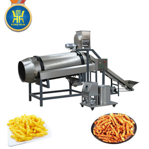 Automatic fried and flavored corn curl cheetos Kurkure making machine
