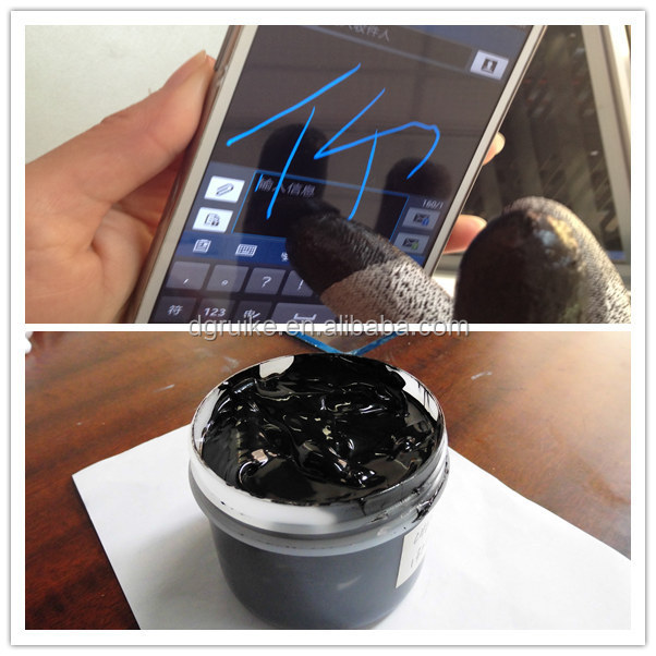 screen printing electrically high conductive ink for gloves
