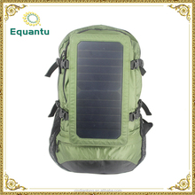 Large volume and wear resistant solar charging backpack suit for outdoor sports or travel