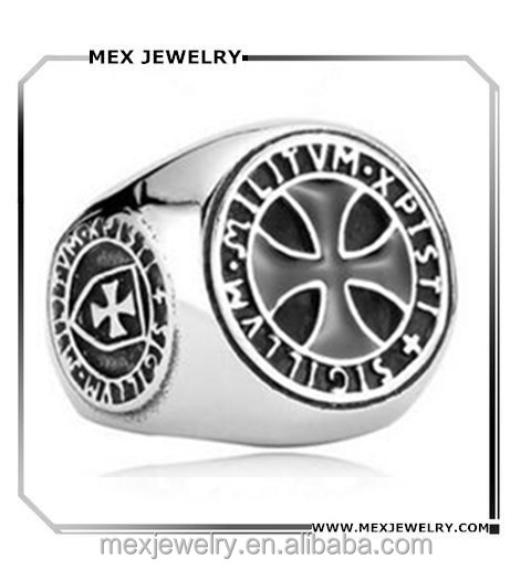 Custom Soldiers Of Christ Men Women Unqiue Stainless Steel Knights Templar Cross Ring