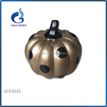 new design small halloween pumpkin ceramic pumpkin with dot wholesale