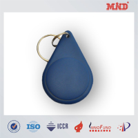 MDK006 ABS key fob RFID key tag with metal ring china golden supplier