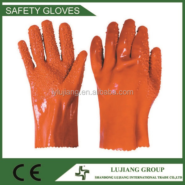 Competitive price oil resistant working PVC Coated gloves for industry