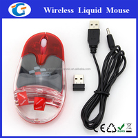 Latest computer parts liquid mouse optical wireless mouse with rechargeable cable