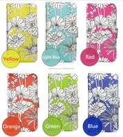 Manufacture Flower Design Pu Leather+PC Cover Case For iPhone SE