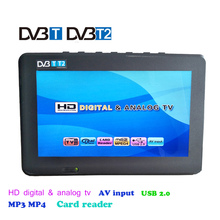7 inch DVB-T-T2 Digital Analog Television 1024x600 Resolution Color 50Hz Portable Car Mini TV Support TF card