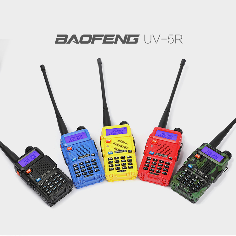 Promotional Amateur radio BAOFENG UV5R UHF/VHF dual band walkie talkie with good price in Europe