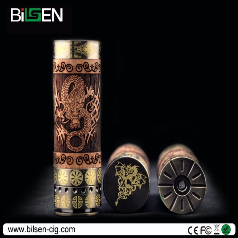 26650 mech mod Dino mod dragon engraved battery e cigarette