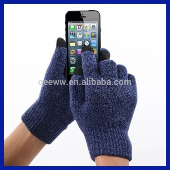 factory wholesale fashion Winter warm wool gloves super warm winter conductive Wool touch screen gloves