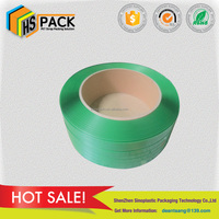 15509mm green embossed polyester strap wood sticks wood sheets packing strap