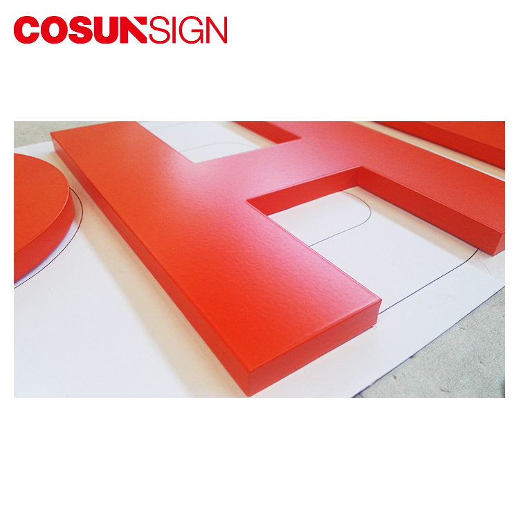 Hot sale decoration solid metal sign to be painted red color