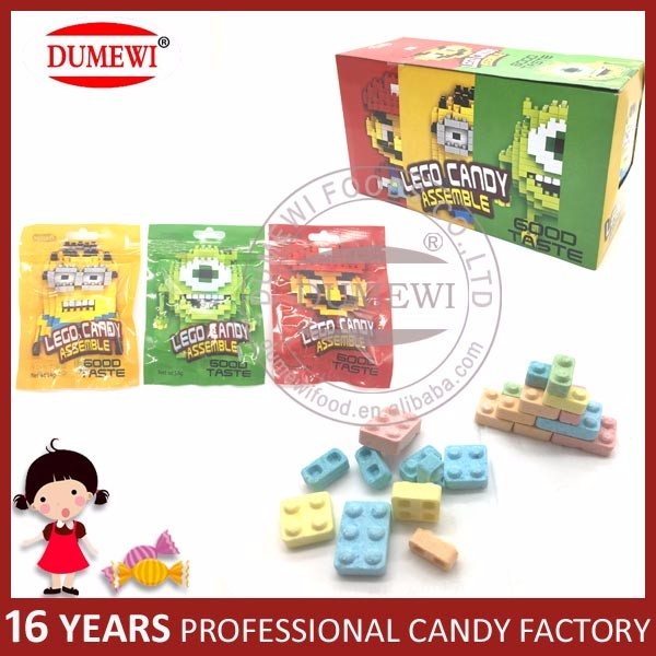 Fruit Building Block Pressed Candy Lego Tablet Candy
