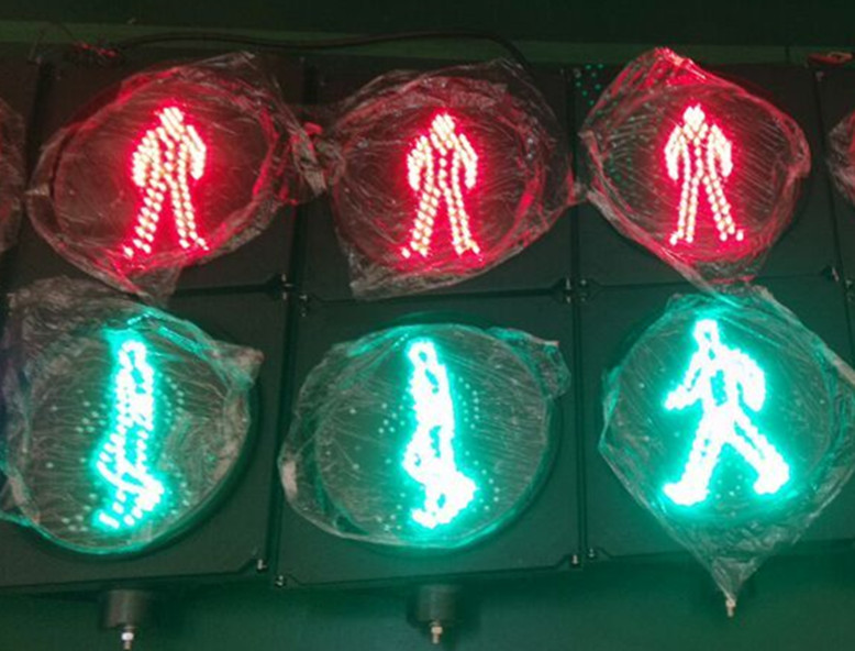Dia.300mm red green walkman traffic signaling light