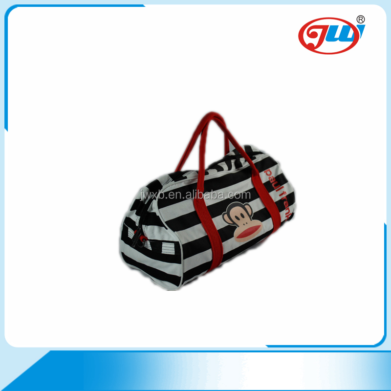 Promotion fashion custom polyester cute design description of traveling bag