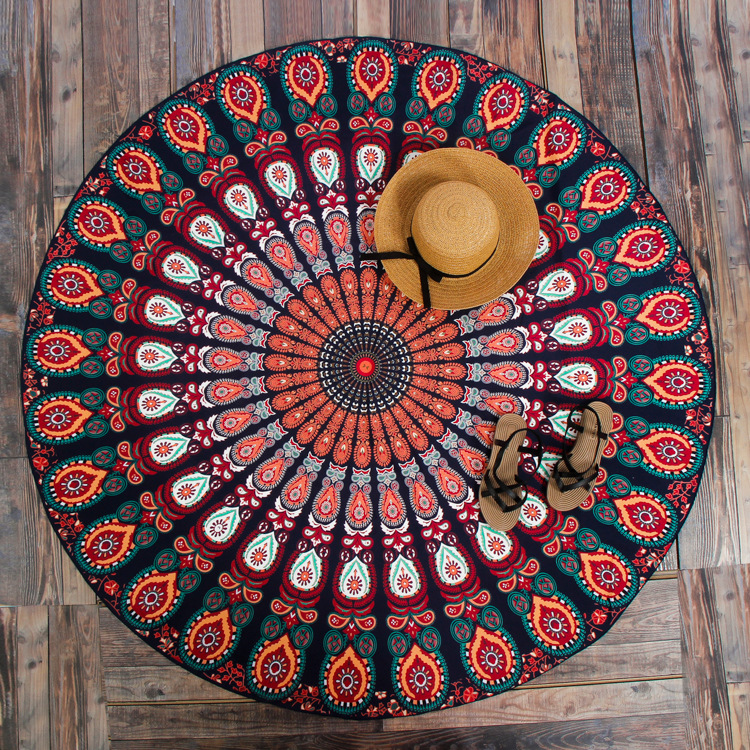 Indian Round Mandala Tapestry Outdoor Picnic Beach Blanket/<strong>Towel</strong>