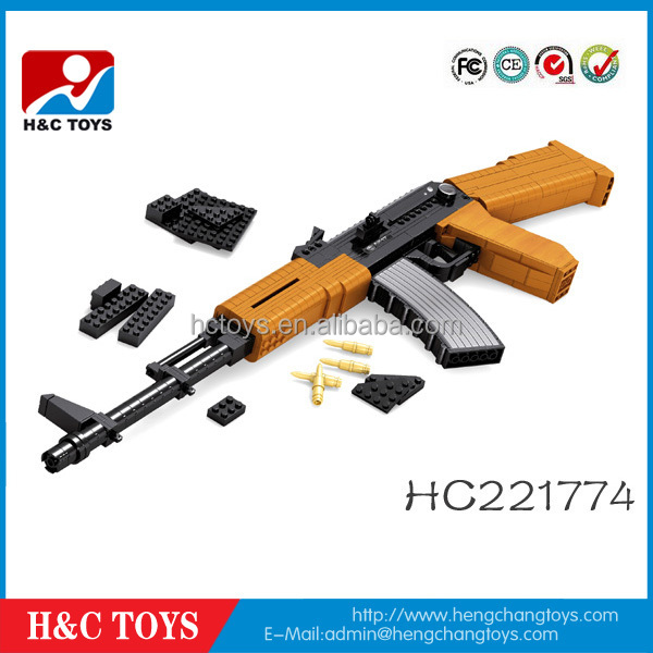 617 pcs,Child play with the ak47 block toy gun HC221774