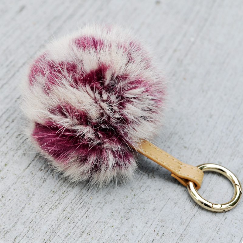 CX-R-49D Genuine Rabbit Fur Ball Key Chain