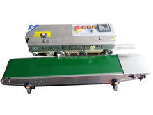 Inflatable continous plastic bag sealer with printing