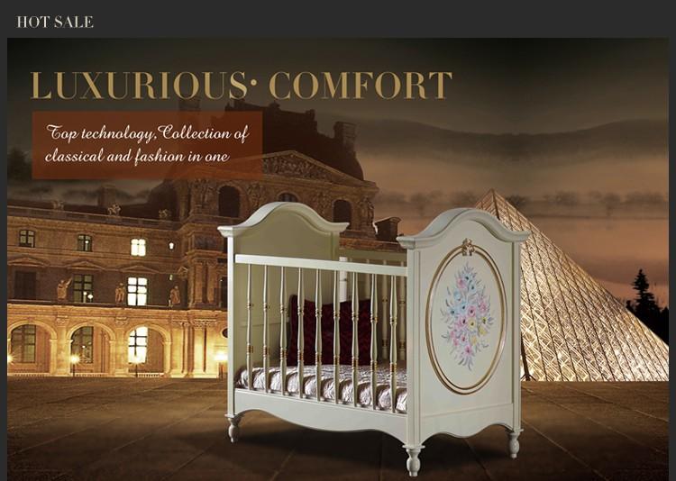 Italien classique mobilier design mobilier Français lit bébé vert ...