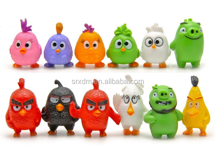 game angry bird action figure,cartoon game character action plastic figure,OEM action figure China manufacturer