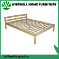 WJZ-B58 pine wood frame king size bed designs