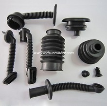 black convoluted accordion rubber bellows