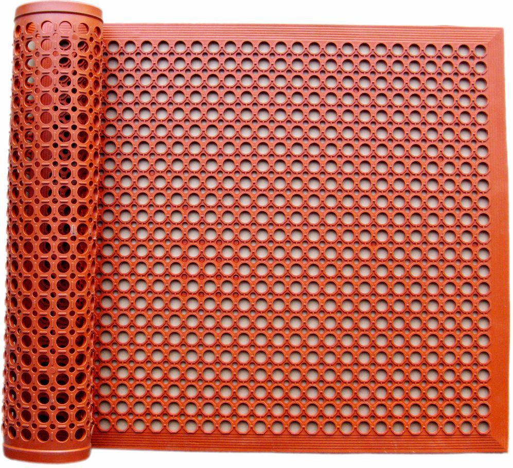 12mm Grass Rubber Mat Drainage Mat Outdoor Use Rubber Door