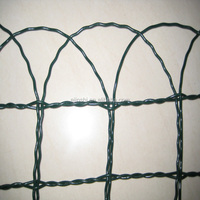 "14"" *20' PVC Coated Scroll Top Border Edging Small Garden Fence"