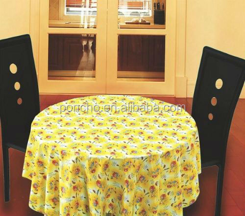 PVC table cloth/printed plastic tablecloth/pvc coated table cloths