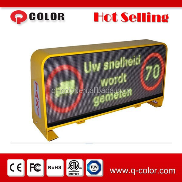 outdoor 6mm Pixel Pitch LED flashing advertising signs for taxi