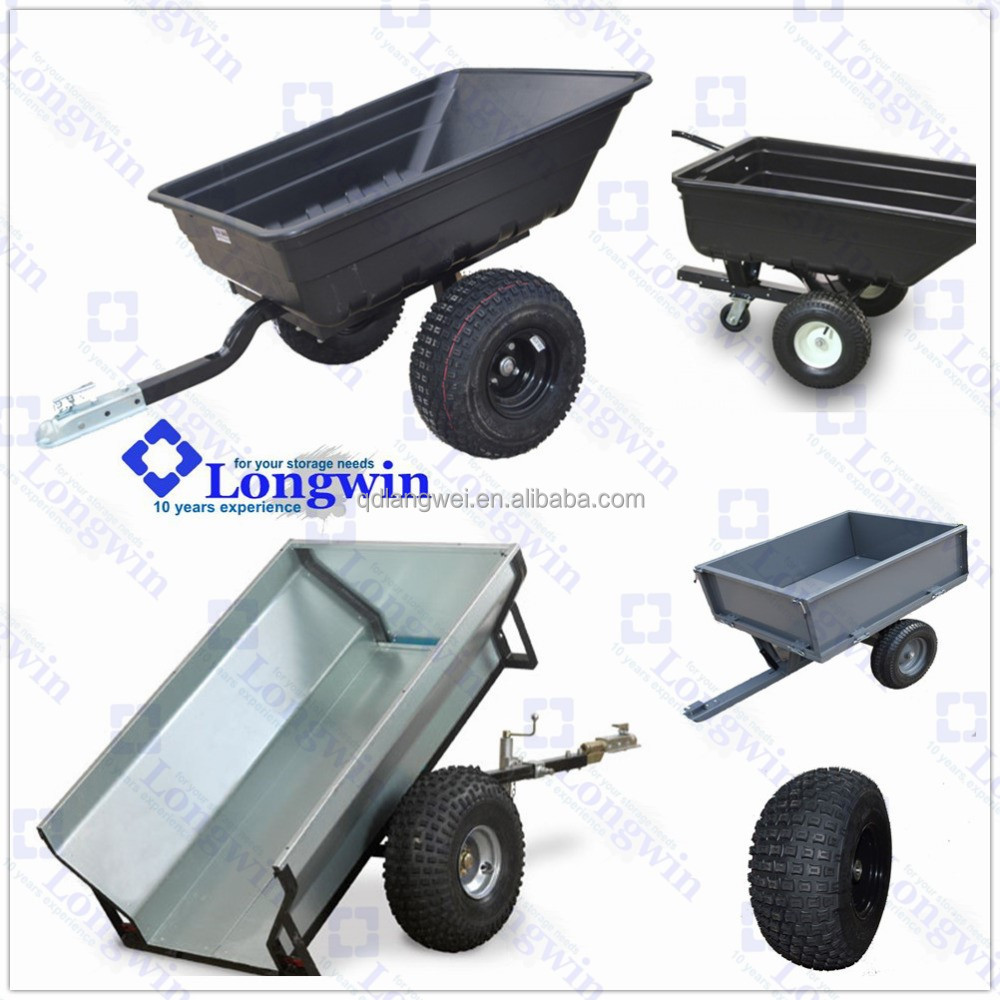 Heavy Duty Trailer Kit ATV Poly Dump Cart