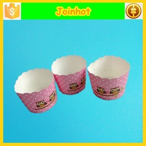 Middle size owl pattern cupcake paper liner muffin cup for baking