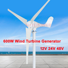 600W <strong>wind</strong> <strong>Turbines</strong> genertor for home use Max power 630W Three <strong>Phase</strong> AC 12V blades number three Free Shipping