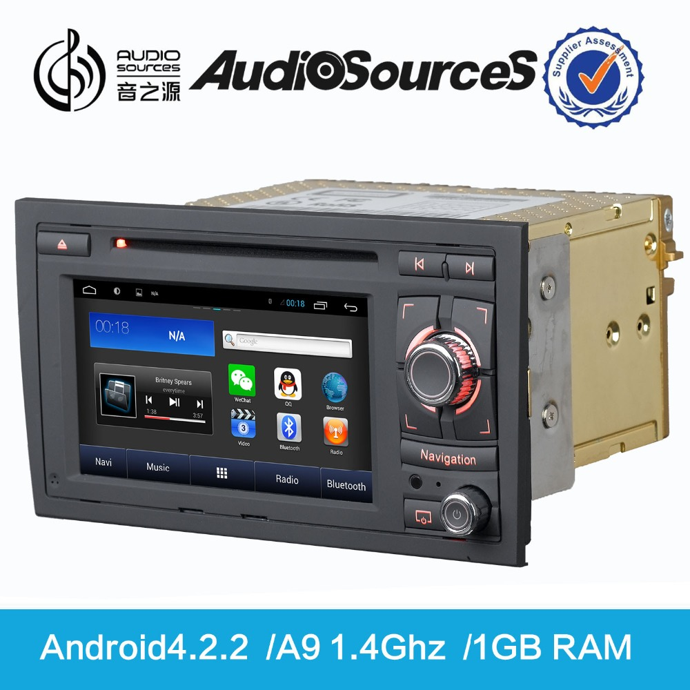Radio GPS Android Car DVD Player, 2016 Hot Sale 6.5 Inch Touch Screen Double Din Multimedia Car for Audi A4 S4 RS4 D90-8604