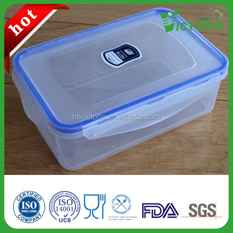HZ-555 Thickened Plastic lunch Box , Rectangle Shape Large Space Plastic Container.