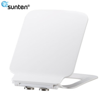 Sanitary Ware Soft Closing Ultra Slim Square Toilet Seat Covers