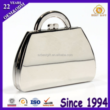 New Design Handbag Shape Custom Metal Compact Mirror